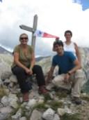 foto di gruppo sulla cima del Caplet
