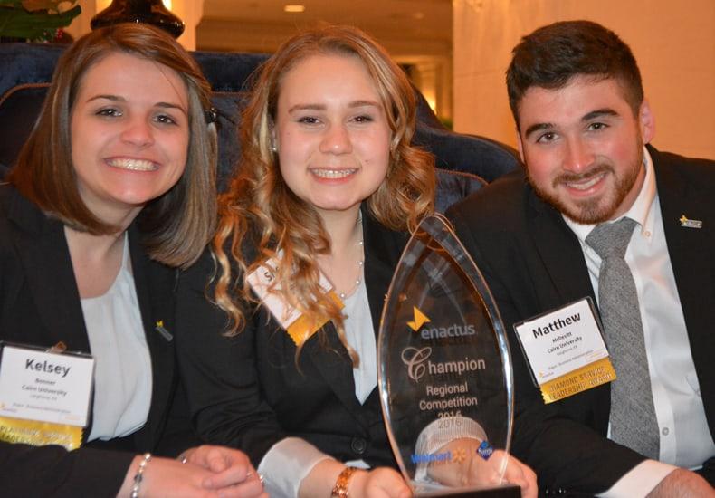 From left to right: Kelsey Bonner, Shelby Hoffman, and Matt McDevitt, vice president