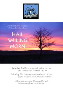 Hail, Smiling Morn - Winter Concert @ LochArthur | Beeswing | Scotland | United Kingdom