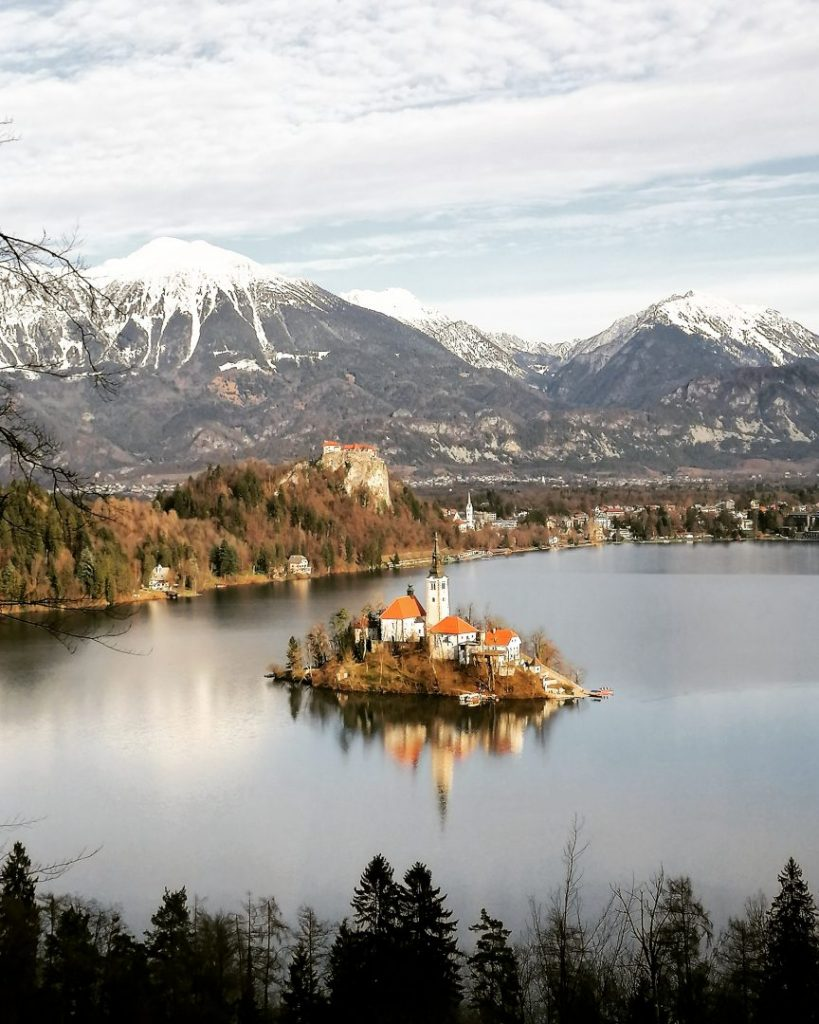 Famous View of Bled Island Slovenia