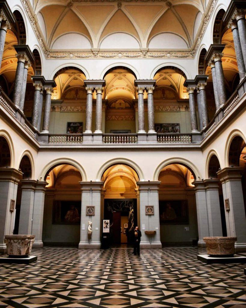 Museum Interior in Budapest Hungary