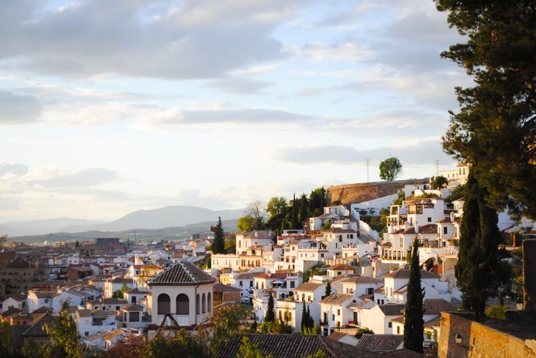 Sunset in Granada, Spain