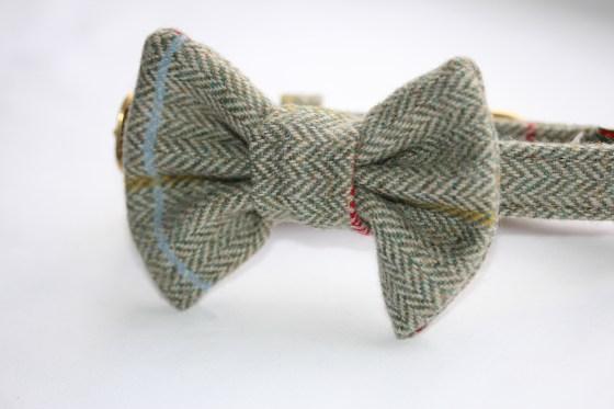 Herringbone Tweed Bow Tie for dogs