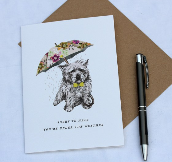 Card with a Cairn Terrier
