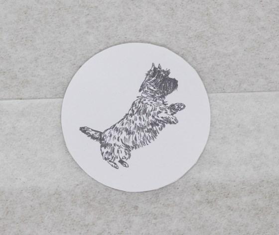 Cairn Terrier Sticker on a Parcel