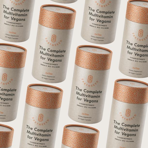 Earthseed Multivitamins have compostable packaging