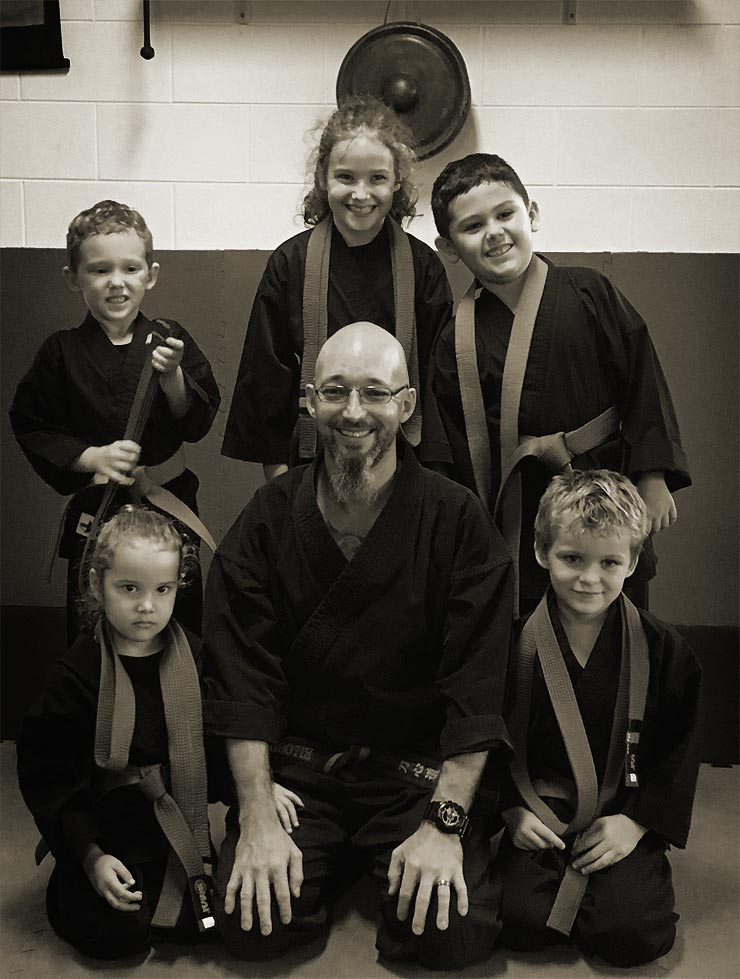 Children with their Sensei at Cairns Quest Ninjitsu