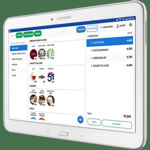 Encaisser avec Commercill sur tablette Samsung