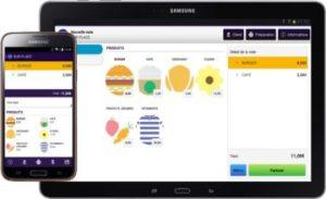 Application caisse Commercill sur Tablette et Smartphone Android