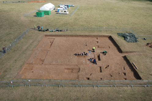 Trench 2 in all its aerial glory.