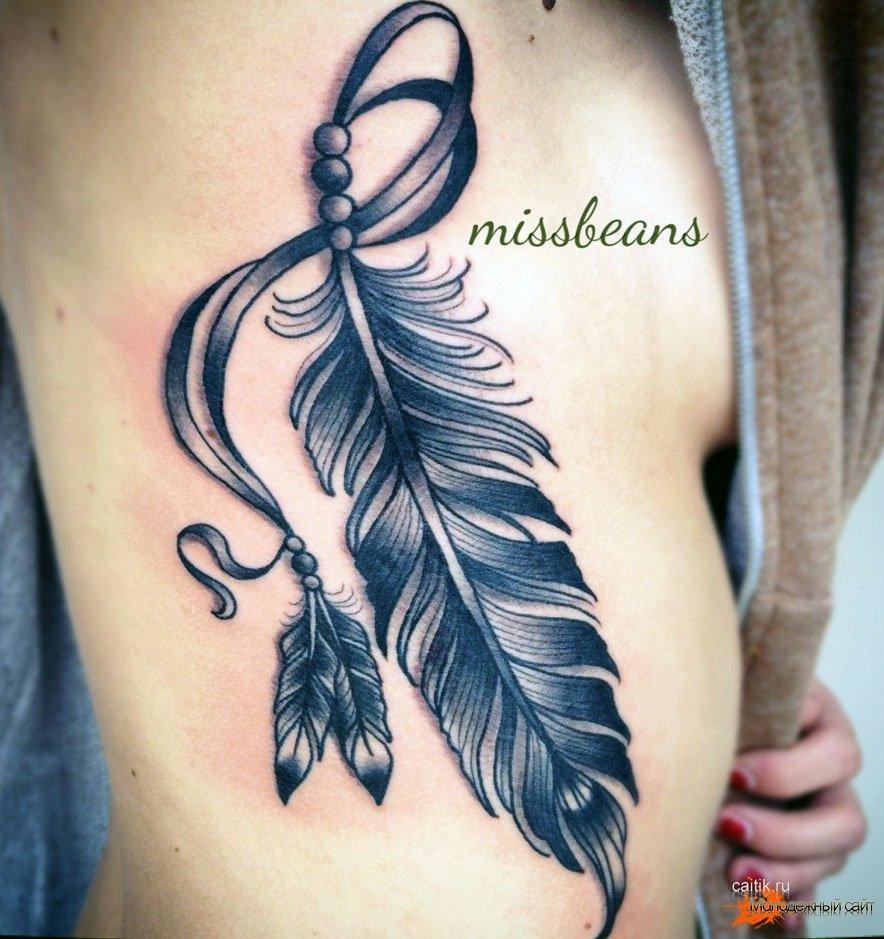 тату перо значение и фото татуировок с перьями жар птицы павлина
