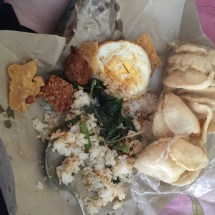 Nasi Pecel (same but mixed in and with Kerupuk)