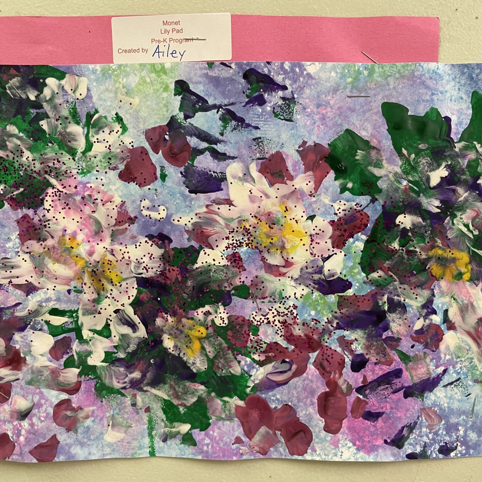 Monet artwork by preschool child
