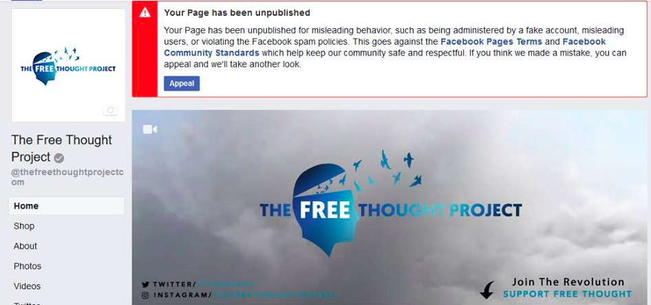 Facebook, Twitter Purge More Dissident Media Pages In Latest