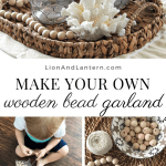 Diy Wood Bead Garland Caitlin Marie Design