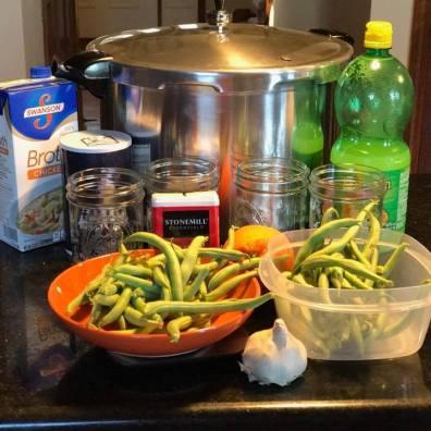 Preparing for Lemon-Garlic Green Beans