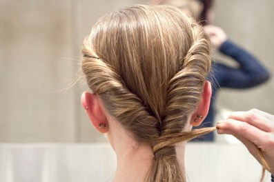 Master a 'Do From NYFW in Five Minutes: http://www.stylebistro.com/Hair+How+To/articles/p1s20WlMotH/Master+NYFW+Five+Minutes