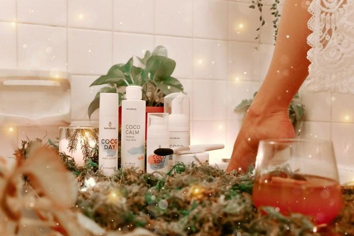hello body skin care, folklore, skin care review, hello body review, forest bath, magical forest bath, bath inspo