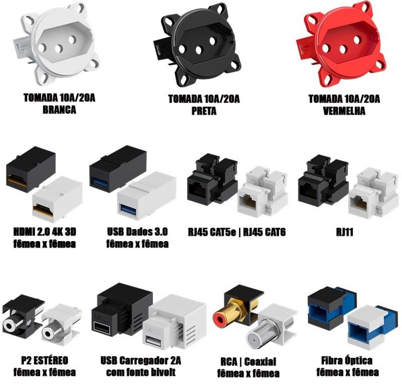 Caixa de Tomada Piso 4x4 ou 4x2