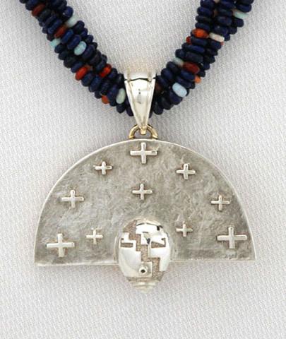 Nurtured by Prayer Pendant - Silver - Detail
