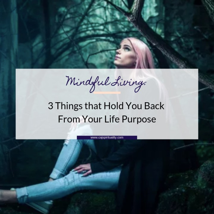 Mindful Living: 3 Things that Hold You Back From Your Life Purpose