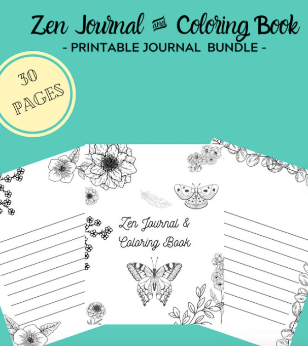 Zen Adult Coloring Book + Journal