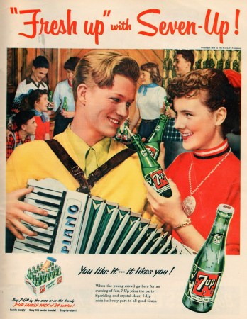 Fresh Up with Seven Up! - Vintage 7-Up Soda Advertising Poster