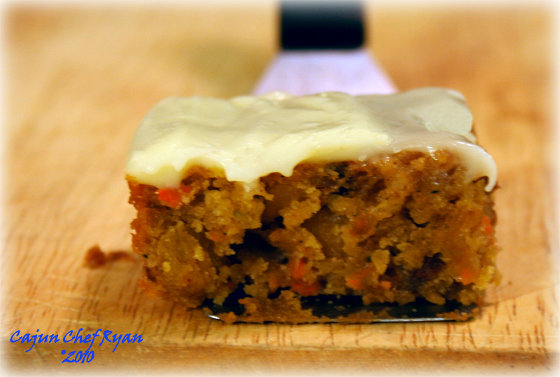 Rum Raisin Carrot and Zucchini Cake...another view!