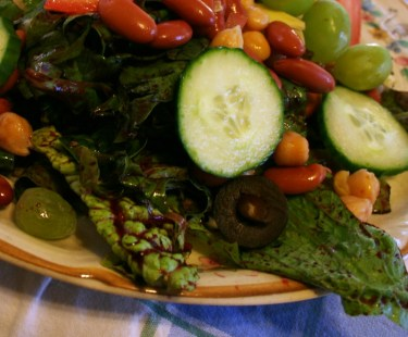 Blueberry Dressing on a Typical ETL Salad
