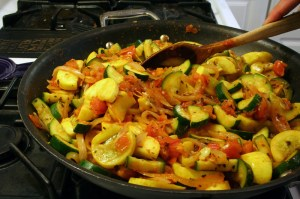 Steam Sautéed Zucchini and Yellow Squash