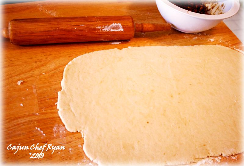 Pecan Praline Dough, rolled