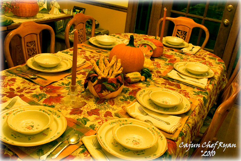 Monique's beautiful Fall table setting