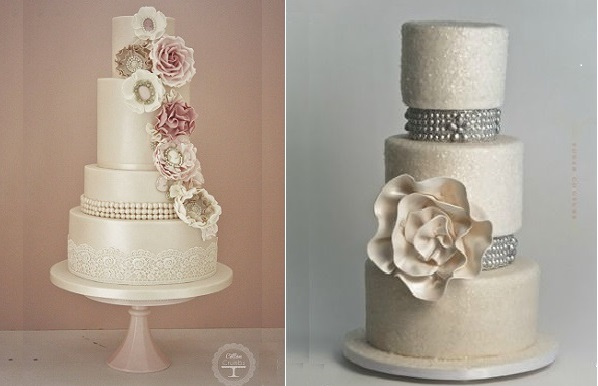 Vintage Pearl Wedding Cakes Cake Geek Magazine