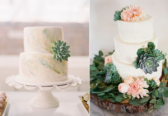 Gumpaste Succulent Tutorials     Cake Geek Magazine succulents wedding cake via Inspired by This  Braedon Flynn Photography  left  by Butter End