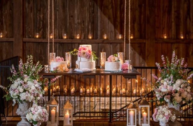 suspended wedding cake via The Knot.com
