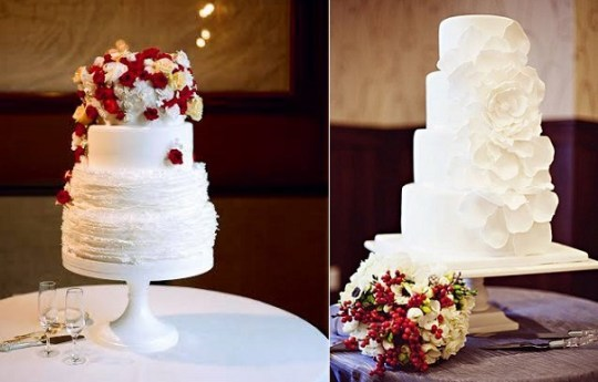 Christmas Wedding Cakes  Seasonal   Elegant   Cake Geek Magazine christmas wedding cakes from Megan Joy Cake Design left  The Graceful Baker   Oakstream Photography