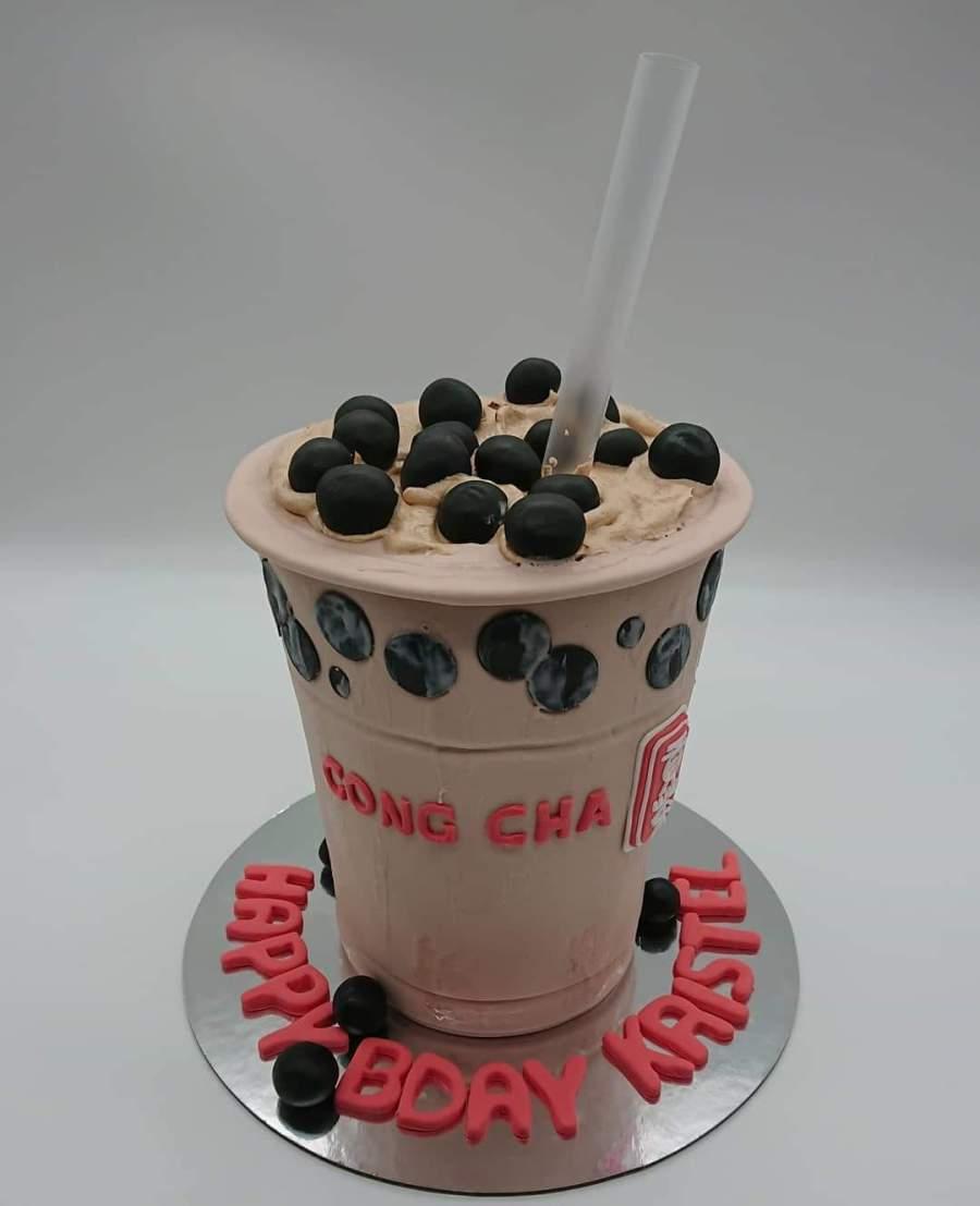 Gong Cha bubble tea cake