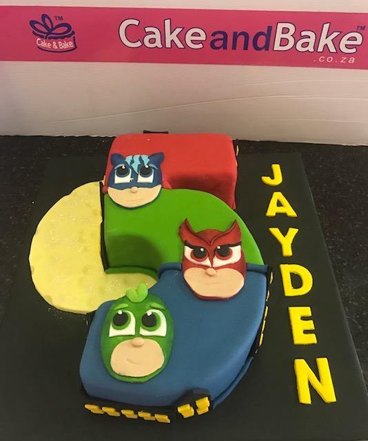 Number 5 Pj Masks Cake And Bake