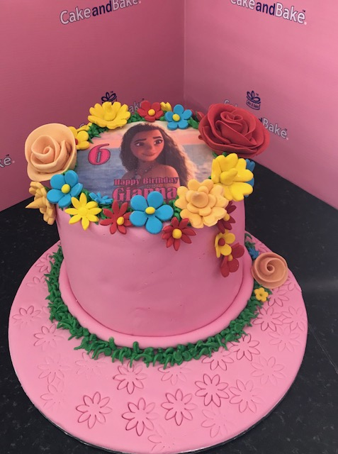 Moana Pink 6inch Cake And Bake