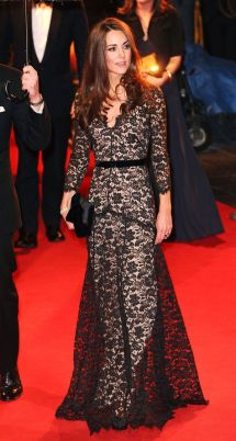 Kate Middleton - Long Lace Gown