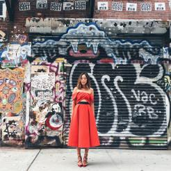 Aimee Song during the New York Fashion Week