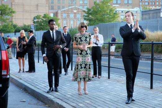 Anna Wintour before the Givenchy Fashion Show in New York