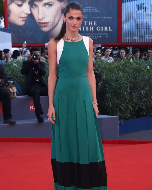 Elisa Sednaoui wearing Fendi at the Venice Film Festival