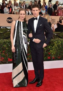 Eddie Redmayne & his wife - SAG Awards 2016