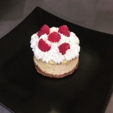 Mini cheesecake nature aux framboises
