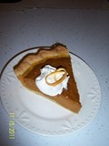 Orange Spiced Pumpkin Pie
