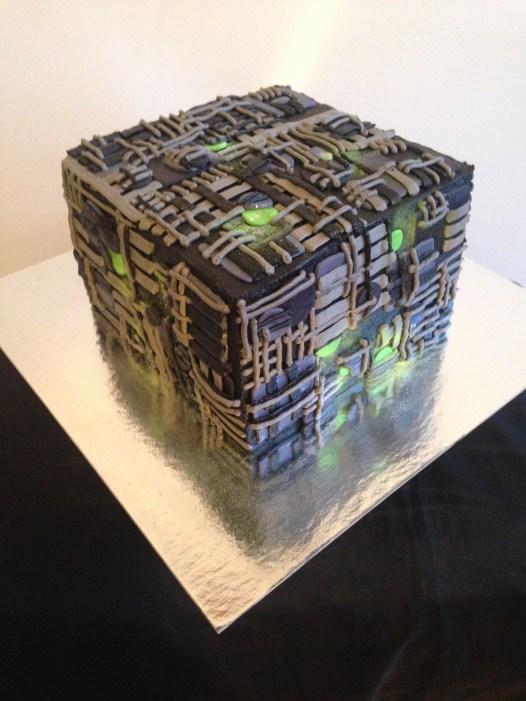 The Borg from Star Teak cake