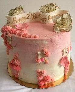 Chocolate strawberry cake.