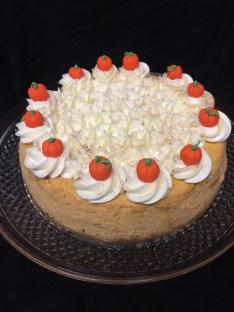 Gluten free pumpkin cheeses cake