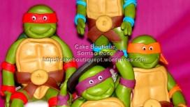 Topo de Bolo com Tartarugas Ninja